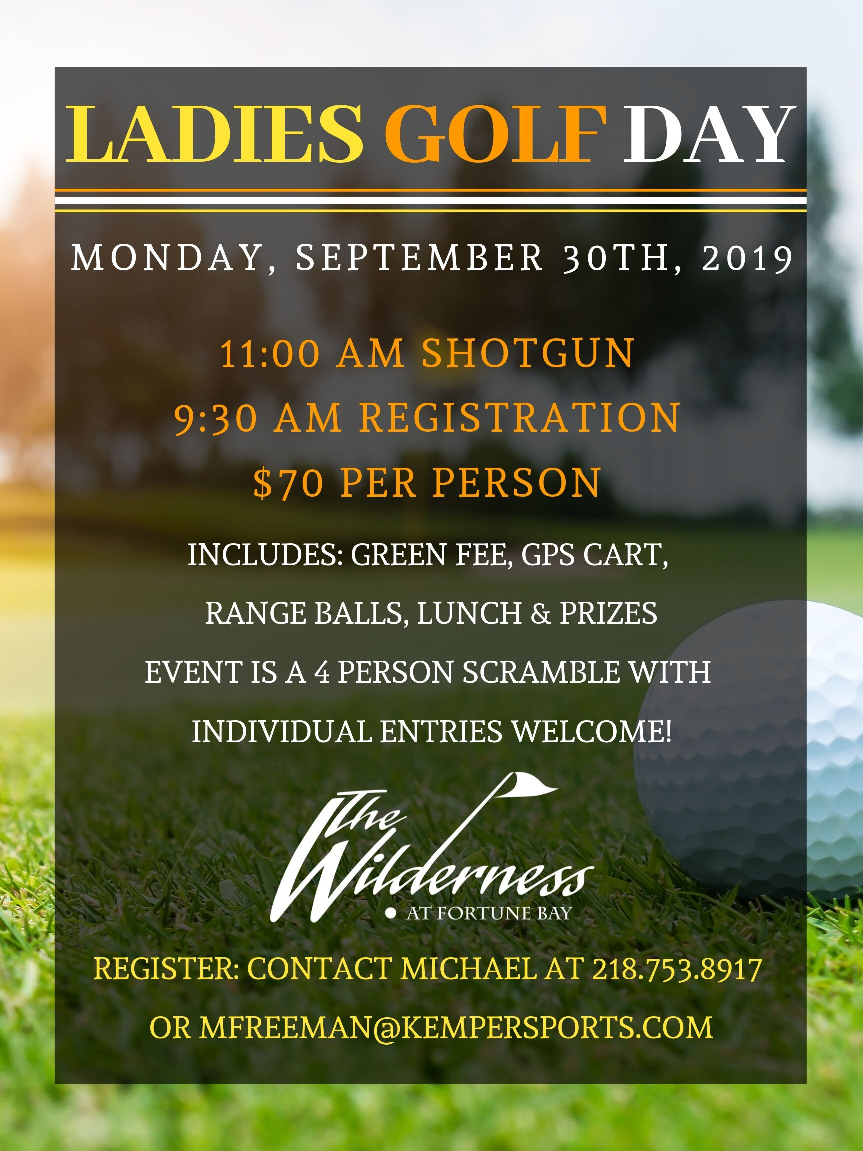 Ladies Golf Day Fall 2019